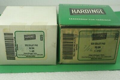 """New Lot Of 2 Hardinge S26 Round Smooth Collet Pads 1 5/8"""" & 1 7/16"""""""