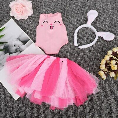 Doll Cute Bunny Headband + Skirt + Top 3PCS/Set Suitable for 18 Inch Dolls Toys