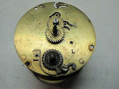 A Small French Timepiece Clock Movement