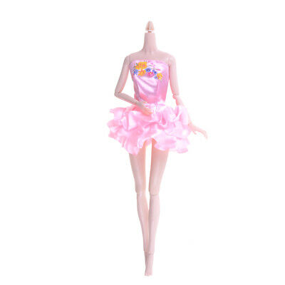 Lovely  Doll Ballet Dress Doll Party Dress Clothes for  Gift D*