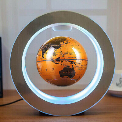 Magnetic Levitation Globe Round 4 In Magnetic Suspension Globe LED Maglev Light
