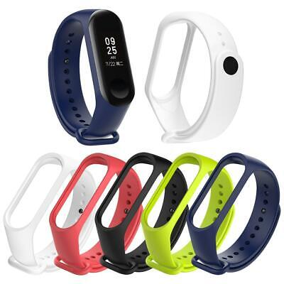 Soft Silicone Wristband Bracelet Watch Strap Replacement for Xiaomi Miband 3 4
