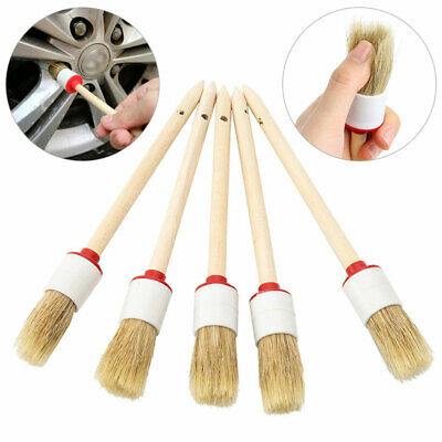 5x Soft Hair Car Detailing Brushes for Cleaning Automotive Vents Seat Wheel Dash