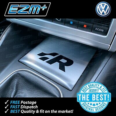 EZM VW Golf MK4 R32 Centre Console 'R' Sticker Decal - MATT BLACK
