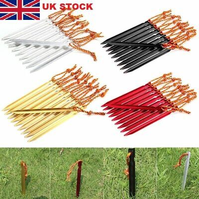 10 Pcs Aluminum Alloy Tent Peg Spike Camping Stake Nail Hiking Outdoor Tools