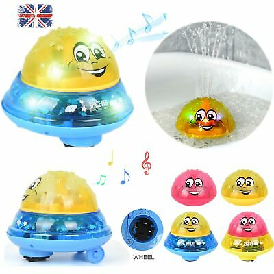 Funny Infant Electric Induction Water Spray Toy Sprinkler Rotatable Shower Bath