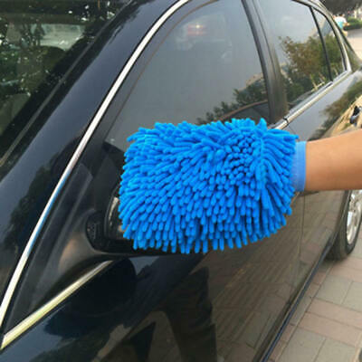Car Wash Washing Microfiber Chenille Mitt Auto Cleaning Glove Dust Washer asf