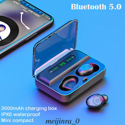 Wireless Bluetooth5.0 Earbuds Headset Twins In-Ear Mini Earphone for IOS Android