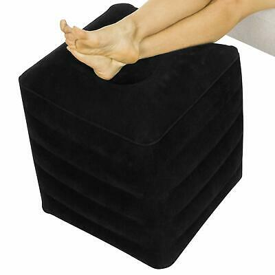 Xtra-Comfort Inflatable Ottoman - Foot Rest Cushion Support Pillow for Office...