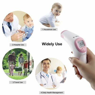LCD Digital Forehead and Ear Thermometer 3 IN 1IR Infrared Medical Memory Recall