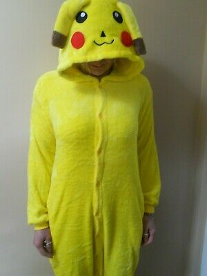 One piece Pokemon Pikachu Pajamas Party Oufits Sleepwear Fancy Dress med -large
