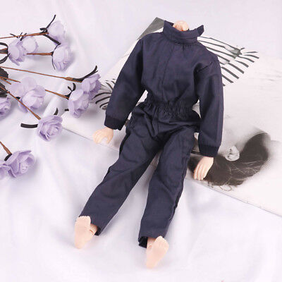 Dark blue handmade boy doll jumpsuits for 1/6 doll party casual wear clothes TK