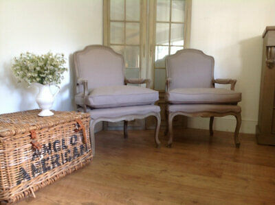 Pair of vintage French armchairs with new upholstery