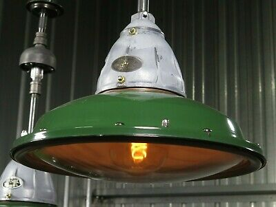 "Vtg 30s BENJAMIN VAPOR SEAL 18"" industrial explosion proof light RESTORED"