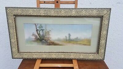 "Original Pastel LATE 19TH Early 20th Century Signed B. FRENCH  16""x28"" Framed"
