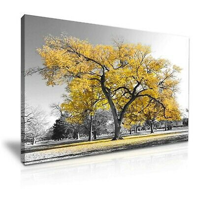 Yellow Tree Forest Leaves Canvas Modern Art Print~ 5 Size to Choose