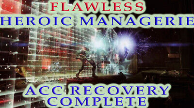 Flawless Heroic Menagerie Week 1 Destiny 2 [PC] Recovery Guaranteed Complete