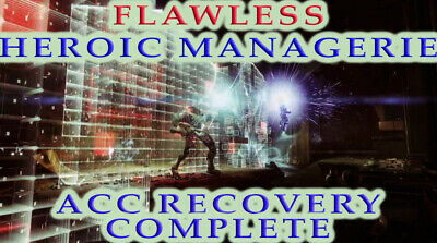 Flawless Heroic Menagerie Week TWO Destiny 2 [PC] Recovery Guaranteed Complete