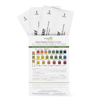 Drinking Water Test Kit (3-in-One) pH, Total Alkalinity, Total Hardness