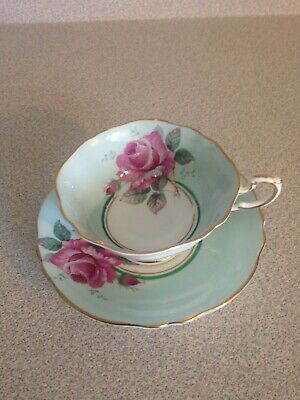 Vintage Paragon Double Warrant Fine China Tea Cup And Saucer, Pink Cabbage Rose