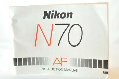 Nikon N70 35mm SLR FILM  Camera instruction owner's manual guide ORIGINAL
