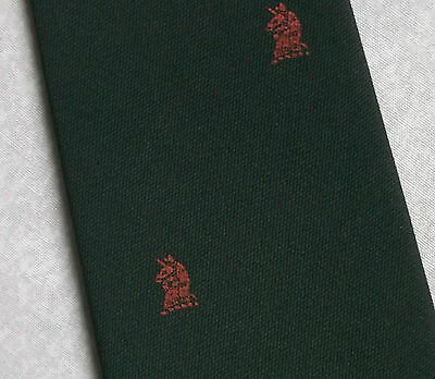Vintage Tie MENS Necktie Company Logo Crested Club Association Society GREEN RED