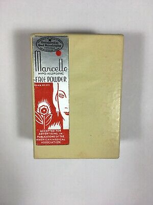 Vintage Art Deco MARCELLE Face Powder Box FULL Sealed Flapper