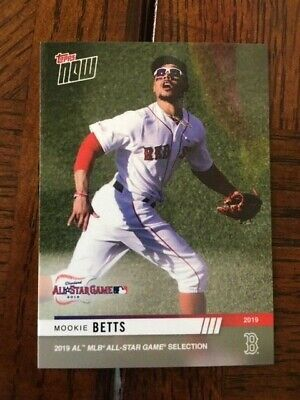 2019 Topps Now Mlb American League All Star Card Red Sox Mookie Betts #8
