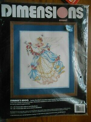 1994 Dimensions Crewel Embroidery Kit SUMMER'S ANGEL 14x16