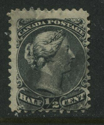 1868 Canada 1/2 cent smaller Large Queen perf 11 1/2 by 12 used