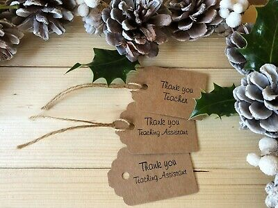Thank you Teacher and Teaching Assistant Gift Tags (4 Purchase Options)