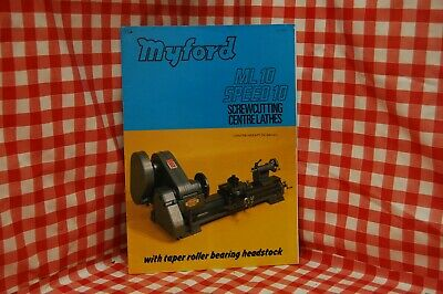 Myford ML10 speed 10 screwcutting centre lathes brochure