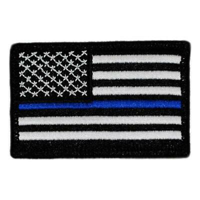 BuckUp Tactical Morale Patch Hook USA US Flag Forward Thin Blue Line Patch 3x2""