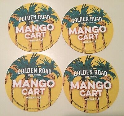 4 Golden Road Brewing Co Beer Bar Coasters Las Angeles CA Microbrewery