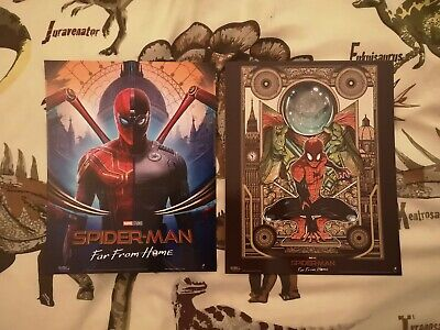 SPIDER-MAN Poster Far From Home - 2x Official Odeon Movie Glossy A4 Set Bundle