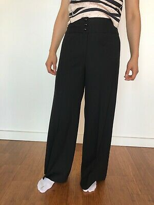 Milly of New York Silk-lined Wool Pants US4 Liberty's of London Totokaelo