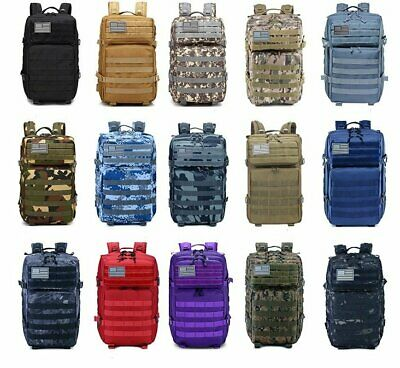 45L Military Tactical Backpack Army Bag Rucksack Outdoor Sports Shoulders Travel