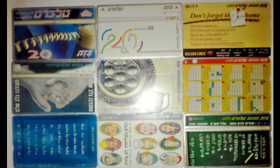 Israel Telecard Phone Card Lot Of 9 Differences Telecard. Collectors.