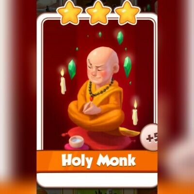 Coin Master  Card *** Holy Monk*** ( Fastest Delivery)
