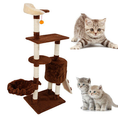 """53"""" Cat Tree Bed Scratch Post Tower Condo Pet Tree Furniture Kitty Play House"""