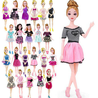 1/5/10/22Pieces Mix of Beautiful Handmade Party Dresses Clothes for Girl Doll
