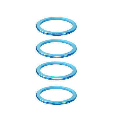 KCNC Solid Road Mountain Bicycle Bike Stem Headset Spacers 2mm 4pcs Blue