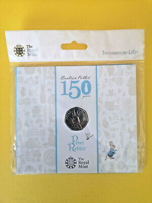 Peter Rabbit 2016 UK 50p BU Coin - New Sealed