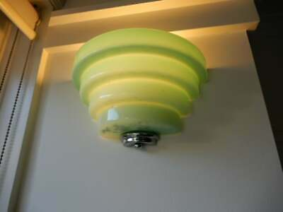 Wall Lights x 2 - Art Deco Wall Lights Green / Aqua, removed, 6l
