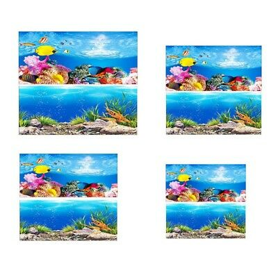 Double Sided Aquarium Background Poster Sticker Tank Home Decor Intersting Hot