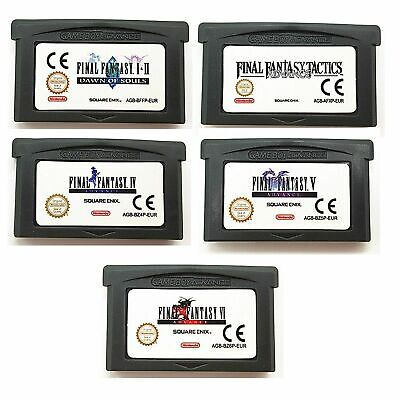 Final Fantasy I+II IV V VI 1+2 4 5 6 Advance  for Game Boy Advance GBA SP NDSL