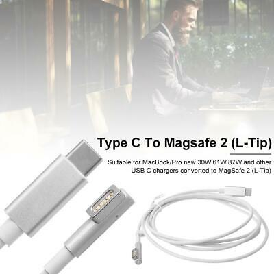 1.7m USB C Type Charging Cable For Magsafe 1 (L-Lip) Cable Compatible White