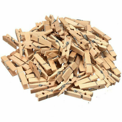 Wooden Clothes Pegs Birchwood Clips Washing Line Airer Dryer Line Strong Wood