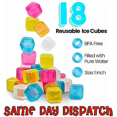 Reusable Ice Cubes Cool Cold Drinks Cooler Freezer Blocks Glass Wine Try Pitcher