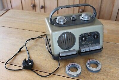 Very Rare Vintage Agaphone Wire Recorder Dictating Machine Aga Stockholm 1950'S